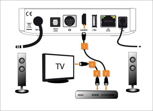 brancher ampli sur tv