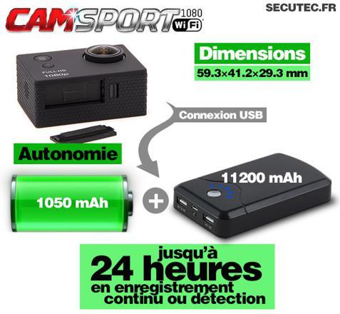 camera espion grande autonomie