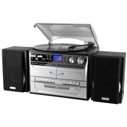 chaine hifi avec platine disque cd et cassette
