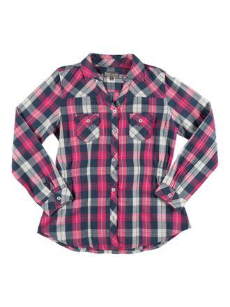 chemise à carreaux fille