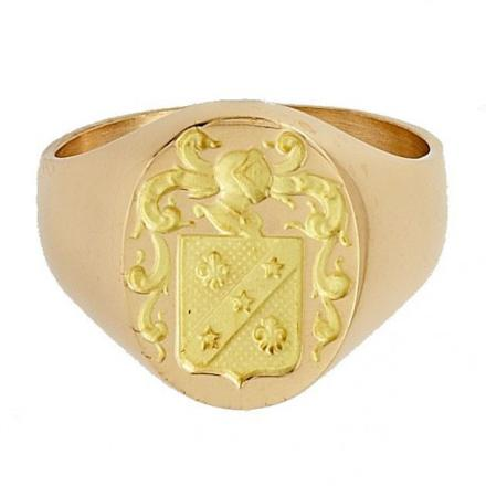 chevaliere en or