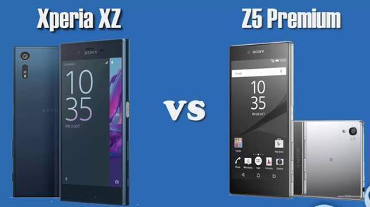 comparaison z5 et z5 premium
