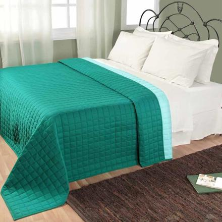 couvre lit bleu turquoise