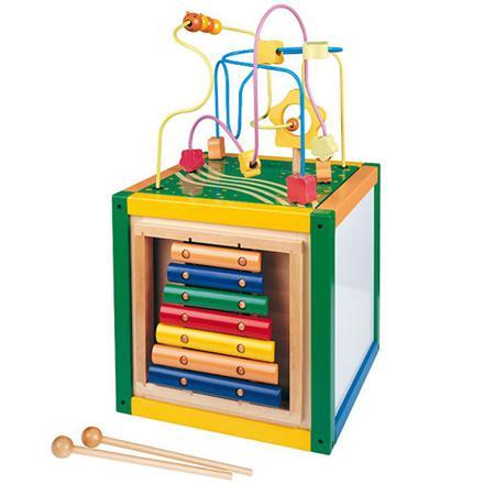 cube en bois multi jeux