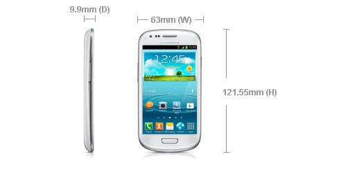 dimension galaxy s3 mini