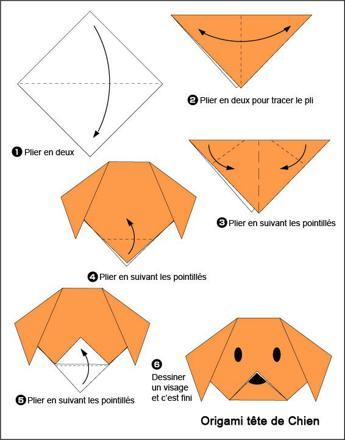 faire des origami facile d animaux