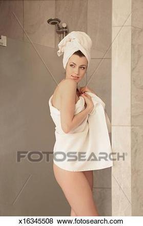 femme douche
