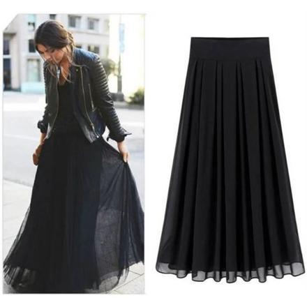 jupe longue grande taille pas cher