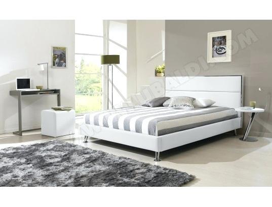 lit 140x190 blanc pas cher