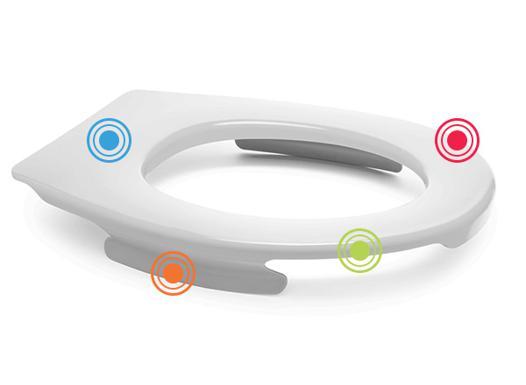 lunette de toilette clipsable