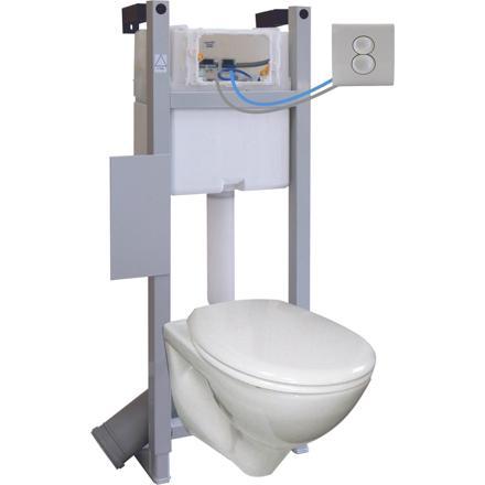mecanisme chasse d'eau wc suspendu
