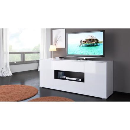 meuble tv haut blanc