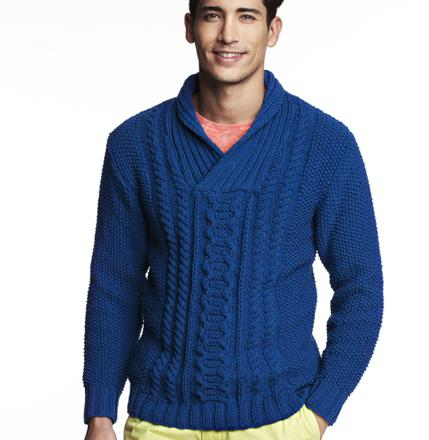 modele pull homme à tricoter