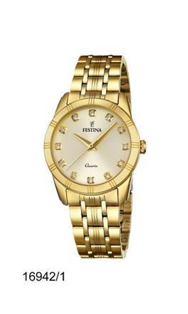 montre festina femme plaqué or