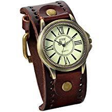 montre vintage femme bracelet cuir