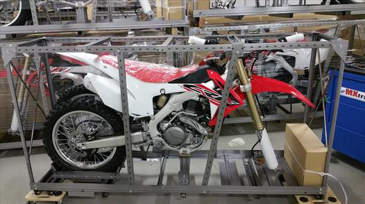 moto cross en caisse