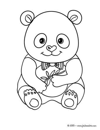 panda à colorier