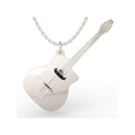 pendentif guitare argent