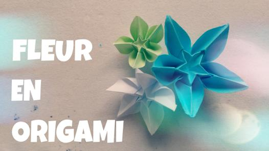 pliage en papier fleur