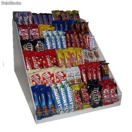 presentoir barre chocolatée