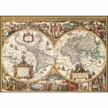 puzzle carte du monde ancienne
