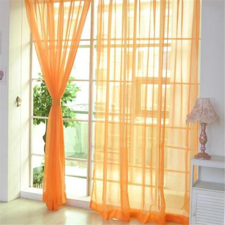 rideau voilage orange