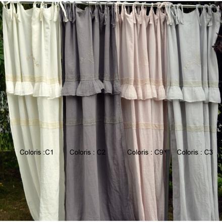 rideaux lin lavé pas cher
