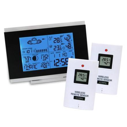 station meteo thermometre interieur exterieur