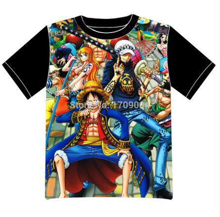 t shirt manga one piece