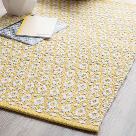 tapis jaune maison du monde