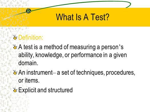 test definition