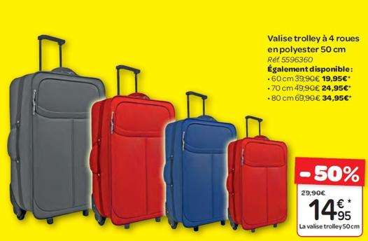 valises en promo