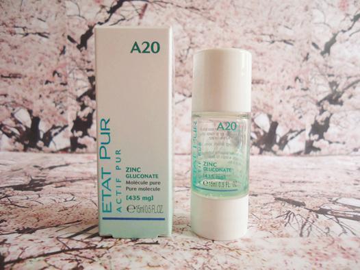 zinc peau grasse
