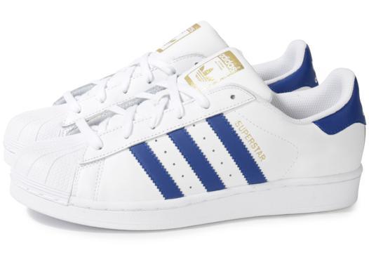adidas blanche et bleu