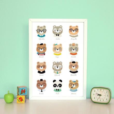 affiches chambre bébé