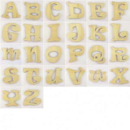 alphabet en bois à peindre