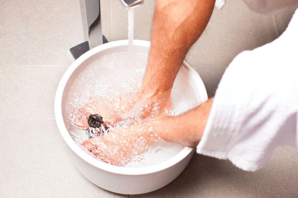 bain pied bicarbonate