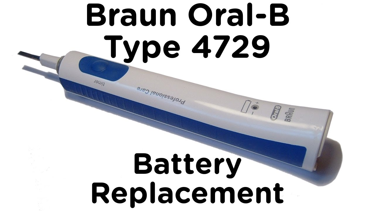 batterie oral b professional care