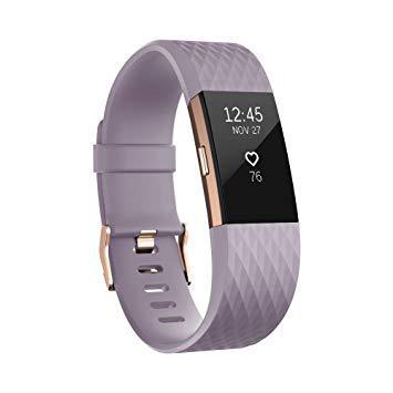bracelet d activité fitbit charge 2 lavande or rose s