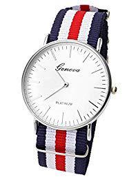 bracelet montre bleu blanc rouge