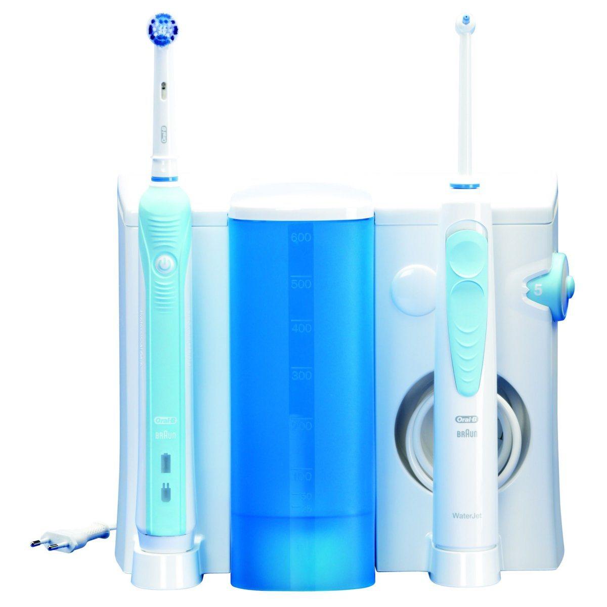 brosse à dent électrique avec jet dentaire