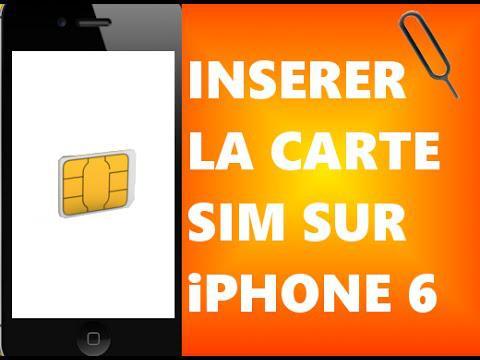 carte sim iphone 6