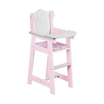 chaise haute poupon en bois