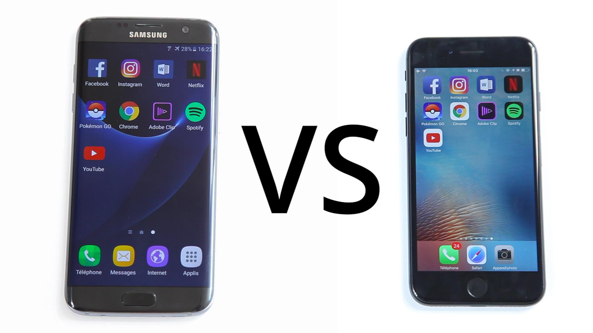 comparaison iphone 7 et samsung s7
