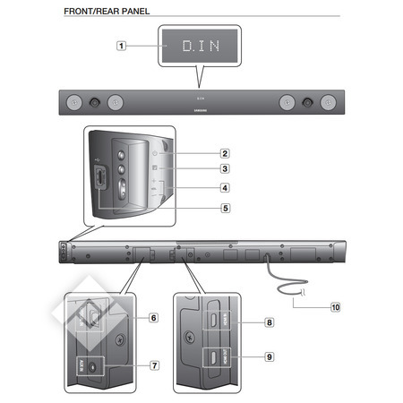 connecter barre son samsung