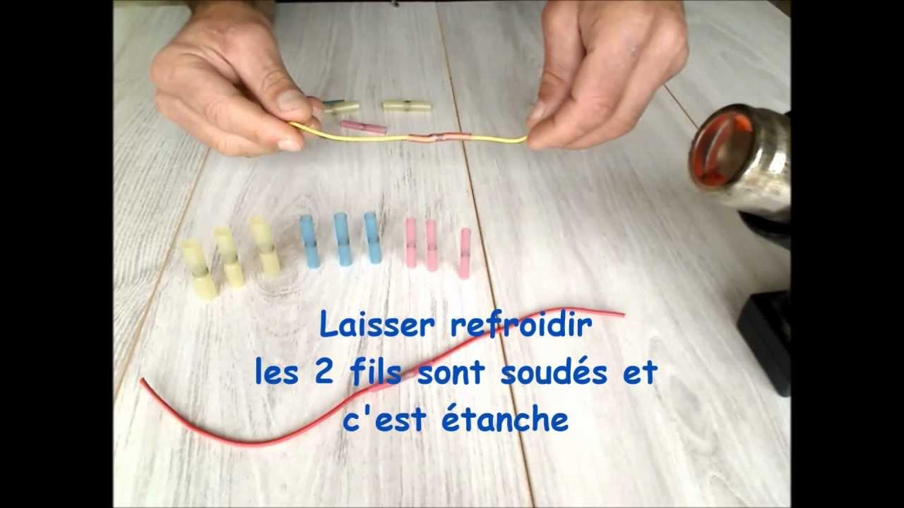 connecteur auto-soudeur étanche thermorétractable