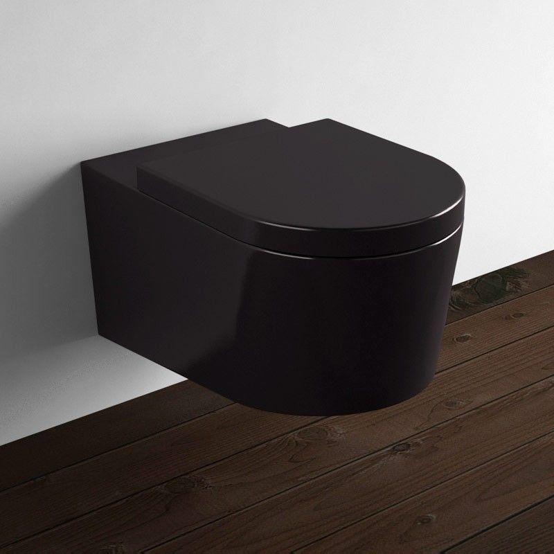 cuvette wc suspendu noire
