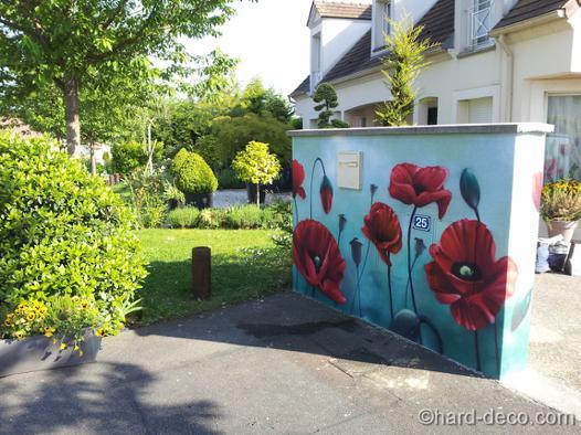 decoration pour mur exterieur de jardin