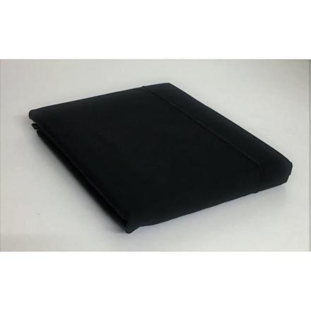 drap plat noir