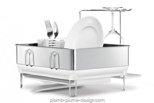 egouttoir vaisselle design inox